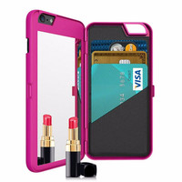 iPhone 6 6+ Mirror Case with Card Pocket