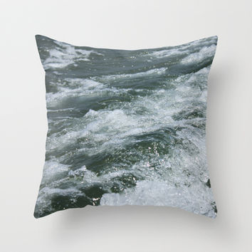 Ocean Waves Throw Pillow by Kayleigh Rappaport