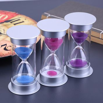 15 minute plastic sand Hourglass Timer Anti-break sandglass child safety protection ornament home decor ampulheta reloj de arena