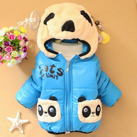 Baby Boys And Girls Jumpsuit Animal Cow Print Romper Cotton-padded Clothes = 1930502084