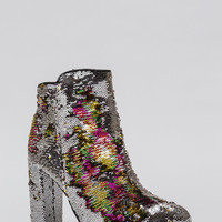 All Sequins All The Time Chunky Booties GoJane.com
