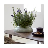 Kähler - Botanica low flowerpot - grey green