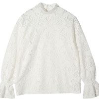 Lace Long-Sleeved Blouse