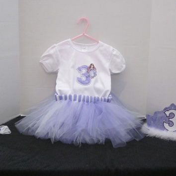 Sophia The 1st, Girls 3rd Birthday Outfit, Princess Tutu Birthday Outfit, Birthday Tutu, Princess Birthday, By Sweetpeas Bows & More