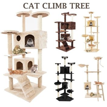 """36"""" And 52"""" Inch Cat Furniture Tree Tower Condo Scratch Post House Play Tree"""