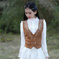 Spring Women Suede Leather Faux Fur Vest Jacket Lady Fall Sleeveless Open Front Fake Fleece Wasitcoat Plus Size outwear