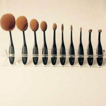Professional 10 Piece Makeup Brushes Set Womens Makeup Tools