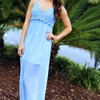 Give Me A Clue Maxi Dress: Periwinkle | Hope's