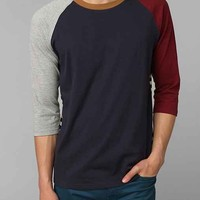Colorblock Raglan Tee- Navy