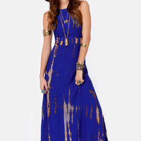 Do or Dye Tie-Dye Blue Maxi Dress