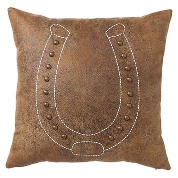 Junk Gypsy Pillow, Lucky Horseshoe