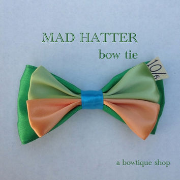 mad hatter clip on bow tie