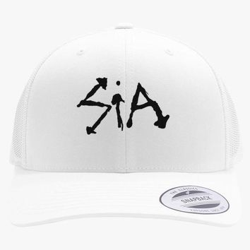 Sia Embroidered Retro Embroidered Trucker Hat