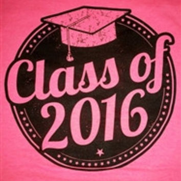 SALE Southern Chics Class of 2016 Graduation Graduate Girlie  Bright T Shirt