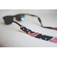 American Flag (Navy Stars) Sunglass Straps by CottonSnaps