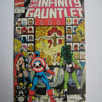 The Infinity Gauntlet V2 August 1991 Marvel Comics Book