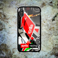 Aprilia Racing Sports Automotive Print On Hard Plastic Cover Skin For iPhone
