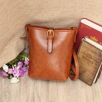 Women Casual Vintage Bucket Bag Crossbody Bag Lightweight Beach Bag