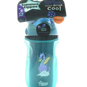 Dragon Teal Tommee Tippee Insulated Straw Tumbler Cup