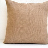 "Amore Beaute Handmade Burlap Pillowcase - Decorative Pillow Cover in Natural Burlap - Burlap Pillow with Button Closure - Throw Pillowcover - Cushion Covers - Gift (24"" X 24"")"