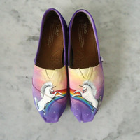Ready To Ship: Magical Unicorn TOMS *Size W8*