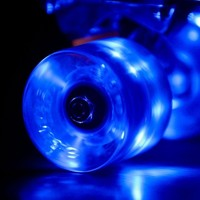 Blue Sunset Flare LED Skateboard Wheel Set (x4) - DriftingThru.com