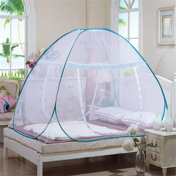Mosquito Net Single Door Netting For Bed Yurt Free Installation Bottomed Folding Hot Sale