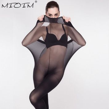 Super Elastic Magical Stockings New Women Seamless Sexy Black Thin Pantyhose Ladies Tights Stocking Sheer Mesh Collant Femme