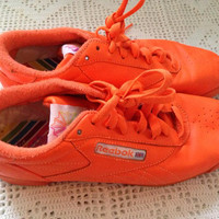 NEON orange retro/vintage/90s UNISEX Reebok sneakers