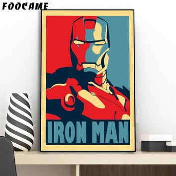 FOOCAME Super Hero Iron Man Posters and Prints Art Canvas Painting Home Decoration Wall Pictures For Living Room