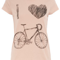 I love my bike t-shirt - Jersey Tops - Clothing - Dorothy Perkins
