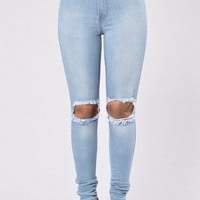 Tough Luck Jeans - Light Blue