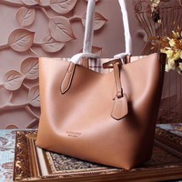 Ready Stock Burberry Women Haymarket Leather Tote Bag #1965
