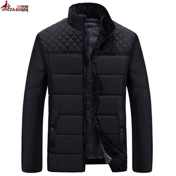 Trendy UNCO&BOROR Brand Men's Jackets and Coats Patchwork plaid Designer fleece Jackets Men Outerwear Winter Fashion Male Clothing AT_94_13