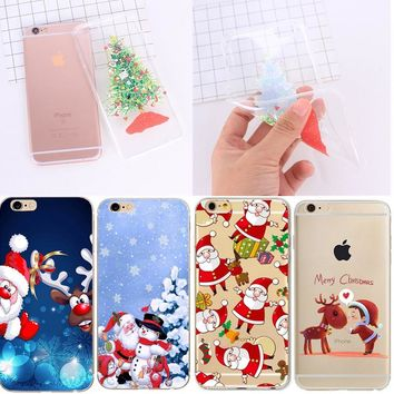 Christmas Phone Case For iPhone 7 6 6S 8 Plus X 5S SE 5 Cases For Xiaomi Mi A1 5X Max 2 Redmi 4X Note 4 Pro 4A Cute Cover Capa