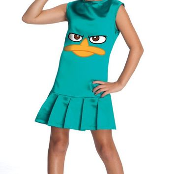 Sassy Agent Perry Child Costume, Phineas and Ferb