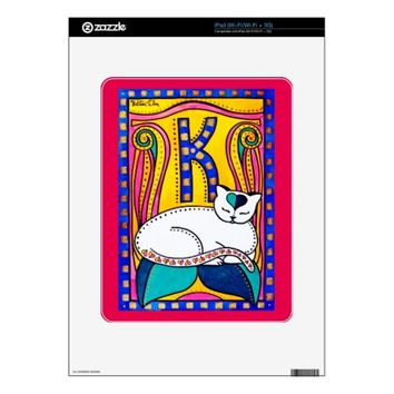 Peace And Love Valentine Cat Design Skins For iPad