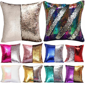 Reversible Sequin Mermaid Pillows