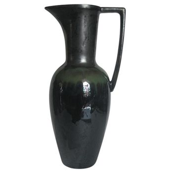 Ancient Ceramic Decorative Pitcher, Black -SageBrook Home