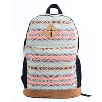 Ladies Girls Floral Nationality Canvas Backpack School Bag Schoolbag Travel Backpack Vintage 8 Colors VVF [8081692423]