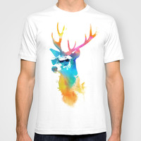 Sunny Stag T-shirt by Robert Farkas