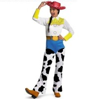 Disguise Women's Disney Pixar Toy Story and Beyond Jessie Costume, White/Black/Blue/Yellow, Small
