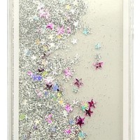 GLITTER SILVER WATERFALL IPHONE CASE