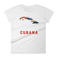 The Cubana Cuban Flag T-Shirt (women)