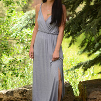 Of My Heart Maxi Dress- Heather Grey