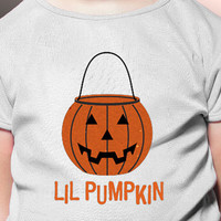 Halloween Lil Pumpkin Iron on Transfer Shirt or Art Design PDF - Use for Artwork or Tshirt or Onesuit or Bag - Spooky gift or treat