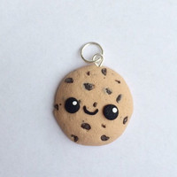 Polymer clay kawaii cookie charm, cookie charm, chocolate chip cookie, polymer clay charm, polymer clay charms, cookie charm, clay food,