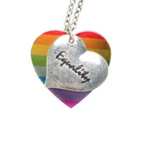 LOVEsick Equality Heart Necklace