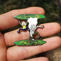 Rick and Morty pin hat pin heady festival lapel pin fashion