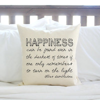 """Harry Potter """"Happiness Can Be Found"""" Pillow"""